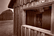 Old West Photo Originals - Barns Grand Tetons by Steve Gadomski