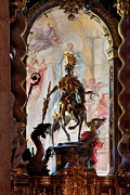 Barock Prints - Barock Altar of Weltenburg Monastery Church Print by Heiko Koehrer-Wagner