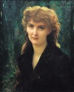 Early Paintings - Baronness Eleonore dUckermann by Antoine Auguste Ernest Hebert
