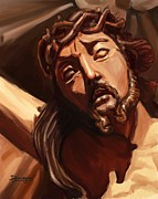 Immaculate Heart Posters - Baroque jesus Poster by Mario Domingues