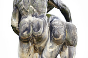 Old Sculpture Metal Prints - Baroque Statue - Detail - Backside Metal Print by Michal Boubin