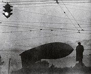 Tram Red Posters - Barrage Balloon Over Moscow, 1942 Poster by Ria Novosti