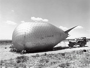 A-bomb Photos - Barrage Balloons Used At Trinity Test by Los Alamos National Laboratory