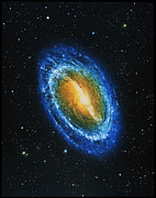 Spiral Galaxy Posters - Barred Spiral Galaxy Poster by Chris Butler