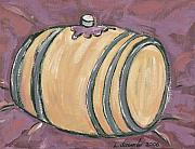 Wine Barrel Paintings - Barrel by Leslie Alexander