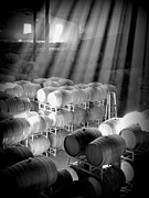 Wine Cellar Photos - Barrel Room by Krista Glavich