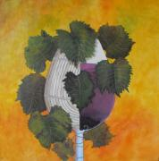 Wine Barrel Paintings - Barrel to glass by John Stuart Webbstock