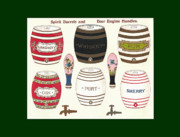 Mahogany Mixed Media Posters - Barrels Two Poster by Eric Kempson