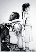 Final Drawings - Barrett and Marlene ff7 by Sharon Branch