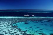 Coral Reefs Prints - Barrier Reef,  High Angle View Print by Axiom Photographic