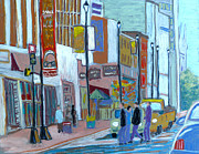 Street Pastels Originals - Barrington Street by Rae  Smith