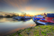 Narrow Boats Framed Prints - Barrow Sunrise In Motion 2.0 Framed Print by Yhun Suarez