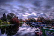 Narrow Boats Framed Prints - Barrow Sunrise In Motion Framed Print by Yhun Suarez
