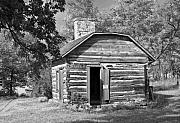 Underground Railroad Prints - Barrs Cabin Print by Fred Lassmann