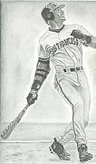 Bonds Drawings - Barry Bonds by Miguel Rivera