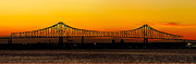 Barry Photos - Barry Bridge Sunset by Nick Zelinsky