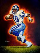 Detroit Lions Paintings - Barry Sanders by Mark Turnes