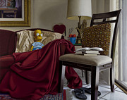 Hyper Posters - Bart on Couch with Red Blanket Poster by Tony Chimento