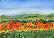 Vermont Autumn Originals - Barton Vermont Autumn by Donna Walsh