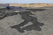 Basaltic Lava Flow From Pit Crater Print by Richard Roscoe