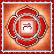 Chi Framed Prints - Base Chakra Muladhara Framed Print by Dirk Czarnota