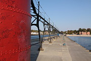 Jim Vansant - Base of Lighthouse and South Haven Breakwater