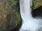 Umpqua River Prints - Base of the Falls Print by Katie Wing Vigil