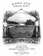 Baseball Game Framed Prints - Baseball, 1861 Framed Print by Granger