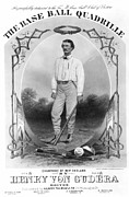 1867 Photo Framed Prints - Baseball, 1867 Framed Print by Granger