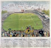 Polo Grounds Framed Prints - Baseball, 1887 Framed Print by Granger