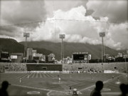 Baseball Originals - Baseball and Mountains by Katie Rackley