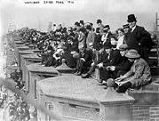Spectator Prints - Baseball. Crowds Watching Shibe Park Print by Everett