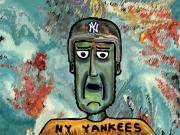 New York Yankees Drawings - Baseball fan by Jonathan Tal
