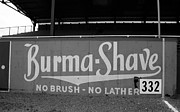 Outfield Framed Prints - Baseball Field - Burma Shave Framed Print by Frank Romeo