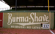 Ballpark Photo Prints - Baseball Field Burma Shave Sign Print by Frank Romeo
