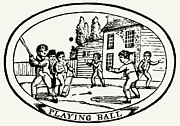 Baseball Bat Posters - Baseball Game, 1820 Poster by Granger