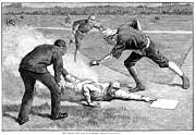 Moustache Prints - Baseball Game, 1885 Print by Granger
