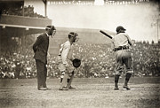 Catcher. New York Framed Prints - Baseball Game, 1908 Framed Print by Granger
