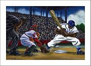 League Painting Prints - Baseball Game Print by Keith Shepherd