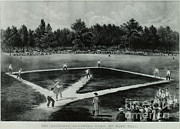 Sports Fields Framed Prints - Baseball In 1846 Framed Print by Omikron