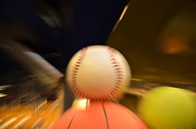 Basketball Abstract Photos - Baseball in Action by Randy J Heath