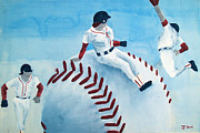 Baseball Print by Jessica Grace Leahy