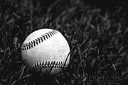 Baseball Close-up Posters - Baseball Poster by Js Photography