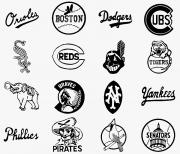 Major League Photo Posters - Baseball Logos Poster by Granger