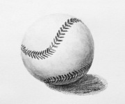 Den Drawings Prints - Baseball Print by Michael Malta