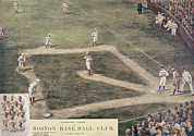 Baseball Field Art - Baseball, New York At Boston, 1889 by Everett