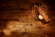 Baseball Glove Prints - Baseball Print by Olivier Le Queinec