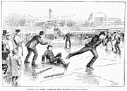 Skate Photo Metal Prints - Baseball On Ice, 1884 Metal Print by Granger