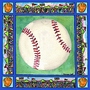 Mitt Paintings - Baseball by Pamela  Corwin