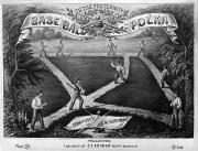 Baseball Game Framed Prints - Baseball Polka, 1867 Framed Print by Granger